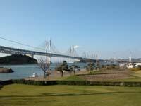 与島から眺めた瀬戸大橋
